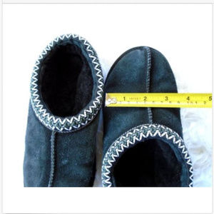 832cbfdca7b UGG Tasman Small Blue Shearling Slippers/Moccasins